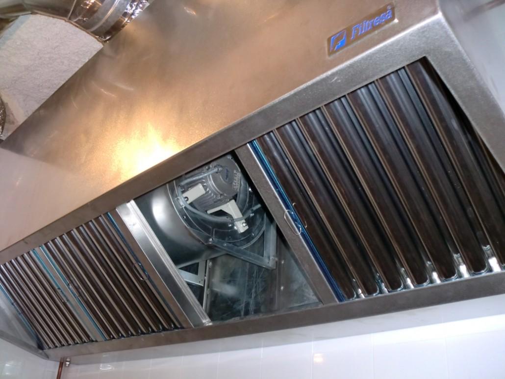 Ventilaci n industrial filtraci n y extracci n filtresa - Campana cocina industrial ...