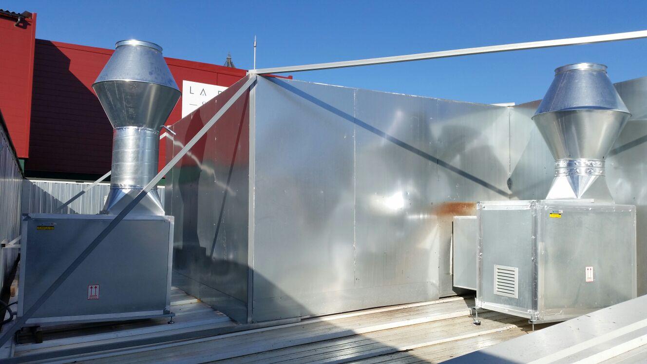 caja de ventilación industrial