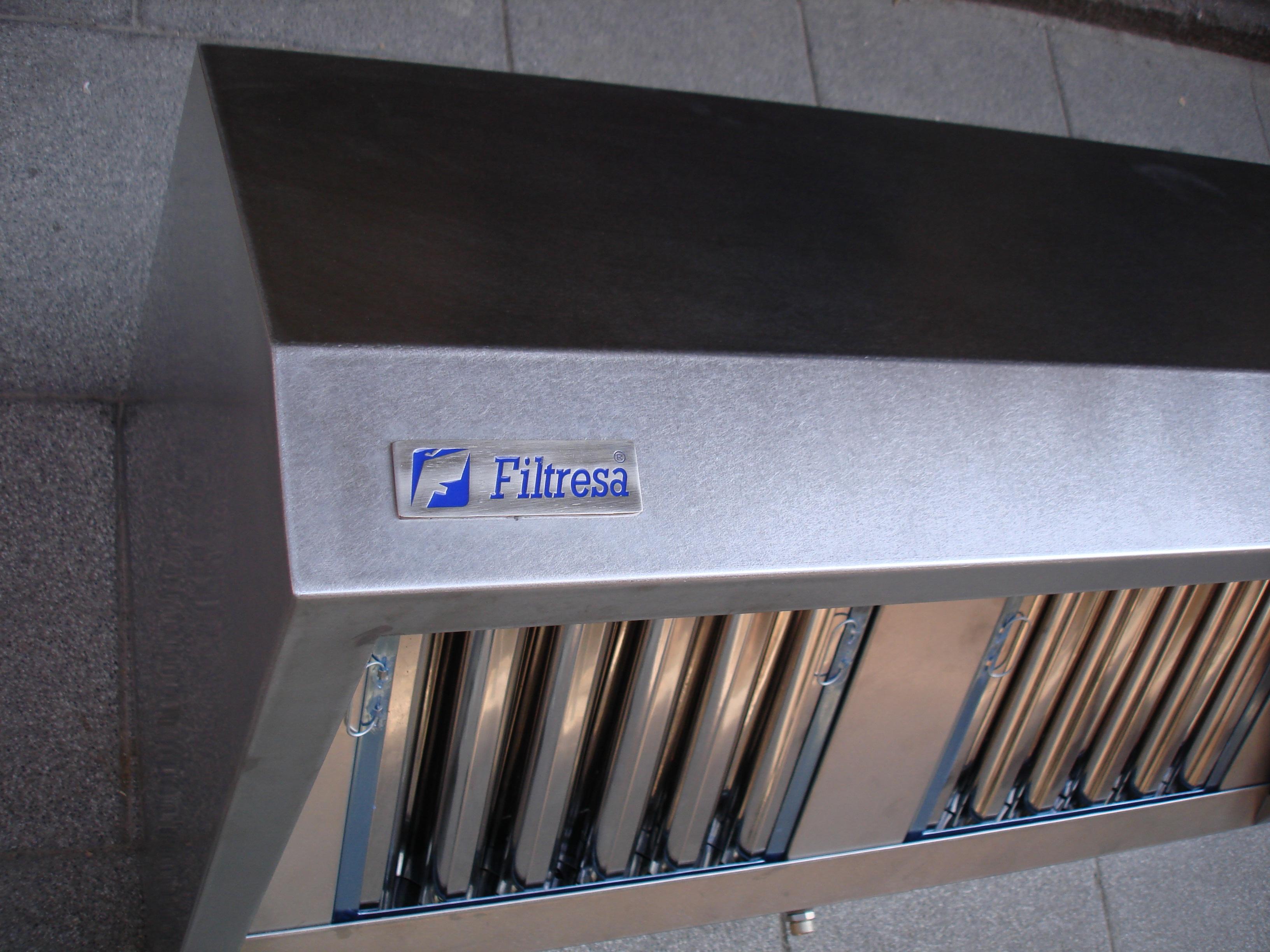 Campana extractora-Filtros metálicos